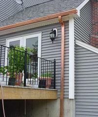 Copper Rain Gutters Boston Ma Half Round Amp K Style