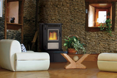 Montage™Elite™  Pellet Stove Elite™ Pellet Stove -The Montage™ pellet stove is truly designed for modern times. With four distinct trim kits, the Montage can be customized to fit nearly any decor. Because the large hopper and automatic feed system erases the need for steady fire maintenance, using the stove is easy, unproblematic and economical. In fact, the Montage effectively burns standard-grade fuel, saving expense while delivering dependable, low-maintenance heat.